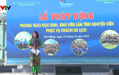 Đà Nẵng phát động phong trào học sinh, sinh viên tình nguyện làm du lịch