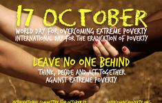 Hôm nay (17/10) là ngày Quốc tế xóa nghèo