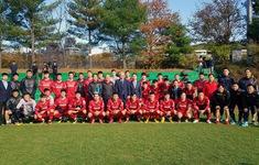 Đại sứ Việt Nam tại Hàn Quốc thăm và động viên ĐTQG tại Paju