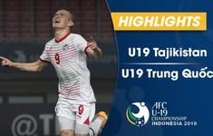 VIDEO: Tổng hợp trận đấu U19 Tajikistan 1-0 U19 Trung Quốc (Bảng D VCK U19 châu Á 2018)