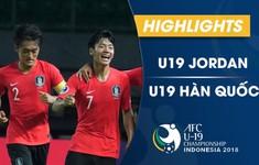 VIDEO: Tổng hợp trận đấu U19 Jordan 1-3 U19 Hàn Quốc (Bảng C VCK U19 châu Á 2018)