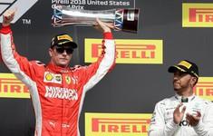 Đua xe F1: Thắng tại GP Mỹ, Raikkonnen làm chậm ngày đăng quang của Hamilton