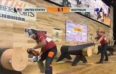 Độc đáo cuộc đua cưa gỗ vô địch thế giới
