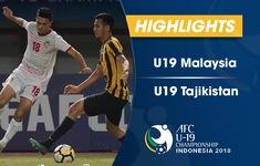 VIDEO: Tổng hợp diễn biến U19 Malaysia 2-2 U19 Tajikistan