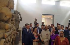 Tổng thống Ân Độ thăm Bảo tàng điêu khắc Chăm