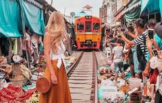 """Chụp ảnh mạo hiểm trên đường ray, nữ blogger """"hứng gạch đá"""""""