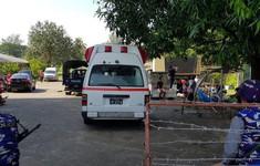 ẢNH: An ninh được thắt chặt trước trận đấu giữa ĐT Myanmar và ĐT Việt Nam
