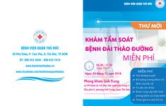 TP.HCM: Khám, tầm soát bệnh đái tháo đường miễn phí