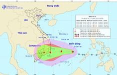 Bão số 9 cách đảo Song Tử Tây khoảng 100km có khả năng mạnh thêm