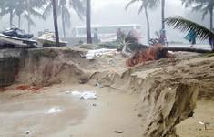 Mưa lớn kéo dài, bờ biển Đà Nẵng đang sạt lở nặng
