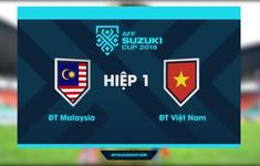 VIDEO HIGHLIGHTS Hiệp 1, ĐT Malaysia 1-2 ĐT Việt Nam: Huy Hùng, Đức Huy lập công