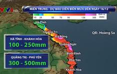 Không khí lạnh tăng cường, mưa lũ miền Trung tiếp tục kéo dài đến 16/12