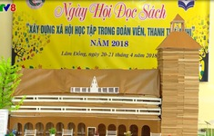 Hội thi xếp sách nghệ thuật tại Lâm Đồng