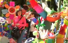 Khu vườn đặc biệt được làm bằng nhựa ở Mexico