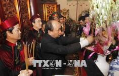 Trang nghiêm lễ dâng hương tại Đền Thượng, khu di tích lịch sử Hùng Vương