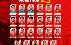 ĐT Tây Ban Nha công bố đội hình dự World Cup 2018: Loại Morata, Mata và cả Fabregas