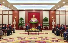 Tổng Bí thư tiếp Trưởng Ban Tổ chức Trung ương Lào