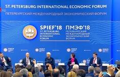 Đoàn đại biểu cấp cao Việt Nam dự Diễn đàn Kinh tế quốc tế St.Peterburg 2018