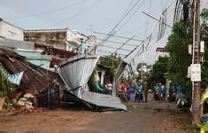 Đồng Tháp: Mưa dông làm nhiều nhà dân bị sập và tốc mái