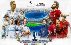 TRỰC TIẾP BÓNG ĐÁ Real Madrid - Liverpool: Chung kết Champions League (1h45 ngày 27/5)