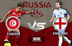 TRỰC TIẾP FIFA World CupTM 2018, ĐT Tunisia 0–1 ĐT Anh: Kane lập công mở tỉ số (Hiệp một)