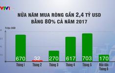 Vốn ngoại đã vào ròng 2,4 tỷ USD trong nửa đầu năm 2018