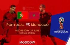 TRỰC TIẾP FIFA World Cup™ 2018: ĐT Bồ Đào Nha - ĐT Ma-rốc