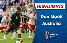 VIDEO HIGHLIGHTS: Đan Mạch 1-1 Australia (Bảng C FIFA World Cup™ 2018)