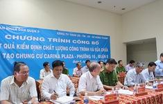 Công bố chất lượng công trình chung cư Carina