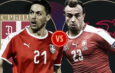 TRỰC TIẾP FIFA World Cup™ 2018, Serbia - Thuỵ Sĩ: Cập nhật đội hình xuất phát