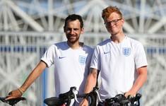 Cổ động viên đạp xe từ Anh tới Nga để cổ vũ cho đội tuyển Anh