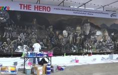 Thái Lan: Tranh khổng lồ mừng chiến dịch giải cứu đội bóng