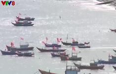 Tuyên truyền chống đánh bắt trái pháp luật ở Lý Sơn