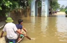 Vẫn còn ngập nặng tại làng Bùi Xá, Chương Mỹ, Hà Nội