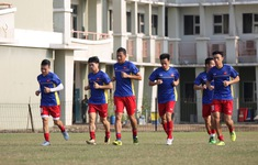 Phóng viên Thể Thao VTV tác nghiệp tại ASIAD 2018: ĐT Olympic Việt Nam tập nhẹ trước trận gặp Olympic Nepal