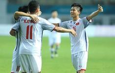 """""""Song Đức"""" của Olympic Việt Nam """"bắt sóng"""" ghi 2 bàn vào lưới Olympic Nepal"""