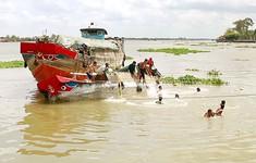 Nguy cơ tai nạn giao thông đường thủy vì nước chảy siết