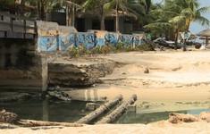 Đà Nẵng: Sạt lở nghiêm trọng cống xả ven biển Ngũ Hành Sơn