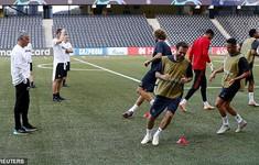 Pogba và Alexis Sanchez hớn hở tập luyện trước cuộc đấu nhà vô địch Thụy Sĩ