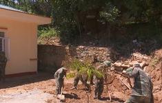 Bộ đội Biên phòng giúp Sơn La khắc phục thiệt hại mưa lũ