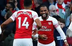 "VIDEO Arsenal 2-0 Everton: Song sát Aubameyang - Lacazette ""nổ súng"""