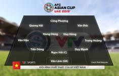 CHÍNH THỨC: Đội hình xuất phát ĐT Việt Nam gặp ĐT Jordan tại vòng 1/8 Asian Cup 2019
