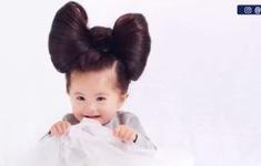 Cô bé tóc dày trở thành người mẫu tóc nhỏ tuổi nhất thế giới