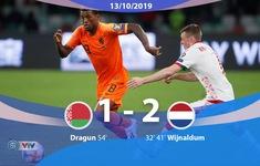 ĐT Belarus 1-2 ĐT Hà Lan: 3 điểm kịch tính (Bảng C, Vòng loại EURO 2020)
