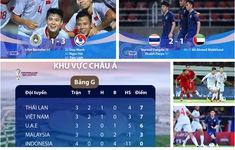 BXH Vòng loại World Cup 2022: ĐT Thái Lan giành ngôi đầu nhờ hơn ĐT Việt Nam hiệu số bàn thắng