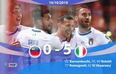 Liechtenstein 0 - 5 Italia: Mưa bàn thắng (Bảng J, Vòng loại EURO 2020)