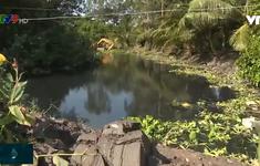 Hàng trăm ha cây trồng thiếu nước tưới vì rạch ô nhiễm