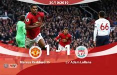 Manchester United chấm dứt mạch toàn thắng của Liverpool