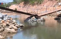 Cầu tạm bị sập, bán đảo Bình Lập bị cô lập