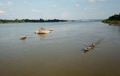Nước sông Mekong tại tỉnh Nakhon Phanom, Thái Lan đang cạn nhanh